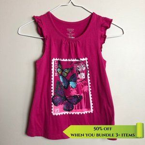 French Toast Butterfly Tank - Size 6X